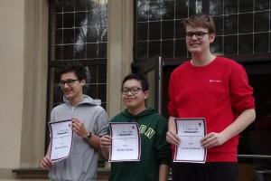 Die ersten Drei der mittelfränkischen Blitzmeisterschaft in der Gruppe U16